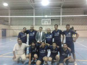 prepared Volleyball team  to participate in the Palestinian league and preparations for that by participating in the training matches